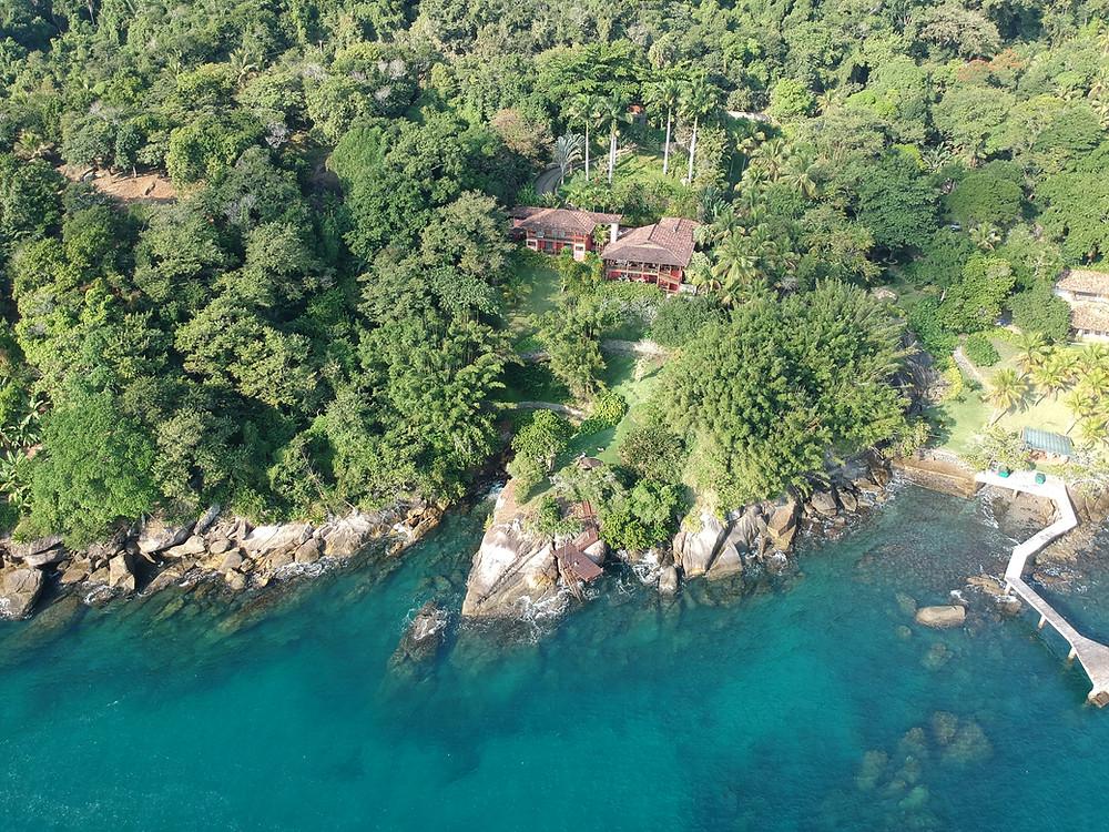 drone casa vermelha guest house pacuiba ilhabela
