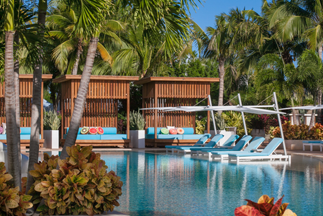 Stunning turquoise water, white sand beach, all ocean view Suites. Reserve.