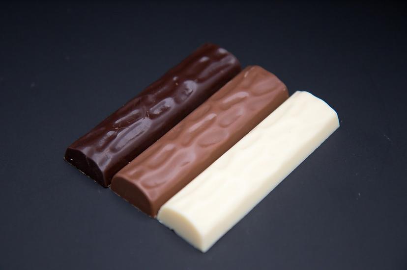 TRIO DE BARRAS CON 3 TIPOS DE CHOCOLATE