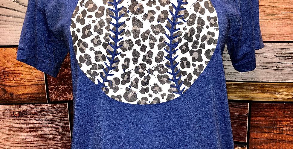 Leopard Baseball Tee