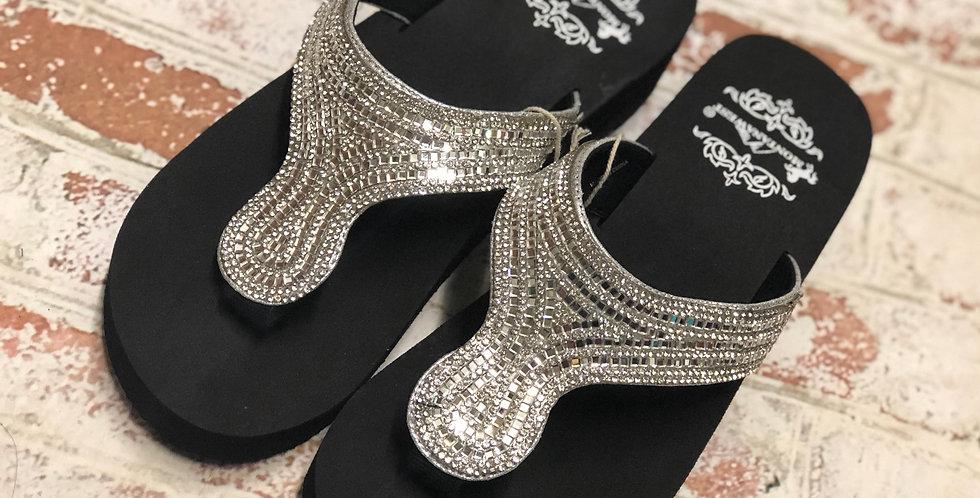 Montana West Sparkly Sandals