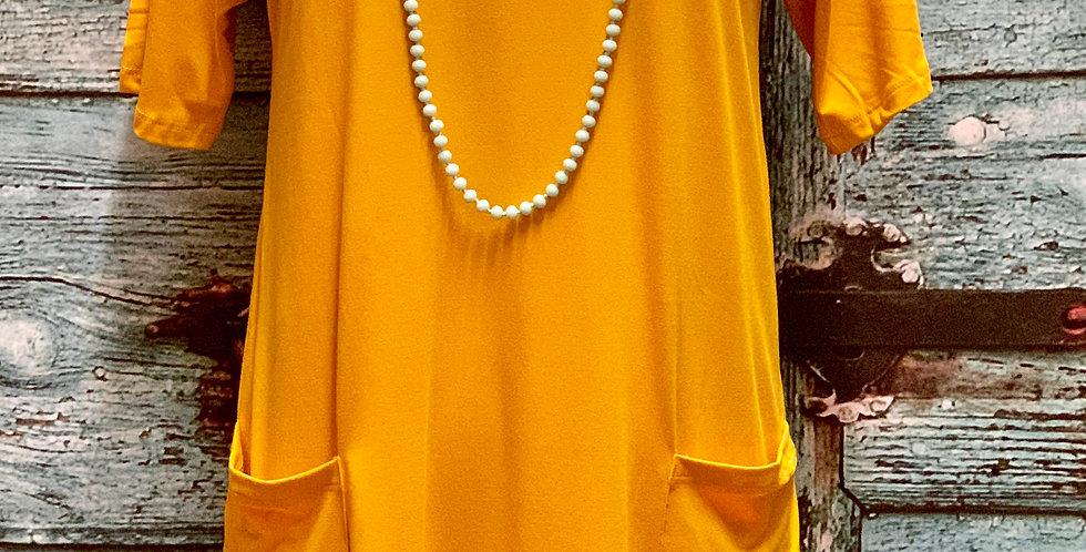 Mustard Pocket Dress