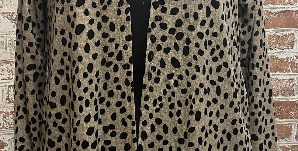 Tan Cheetah Cardigan