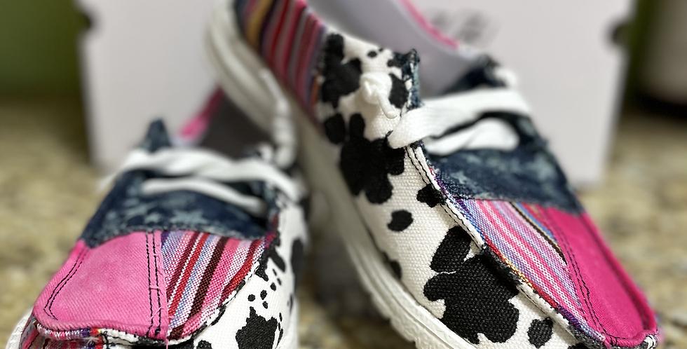 Pink Cow Print