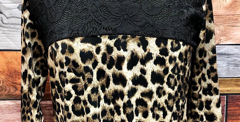 Lace Detail Leopard Top