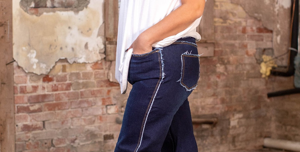 Frayed Bell Bottoms Jeans