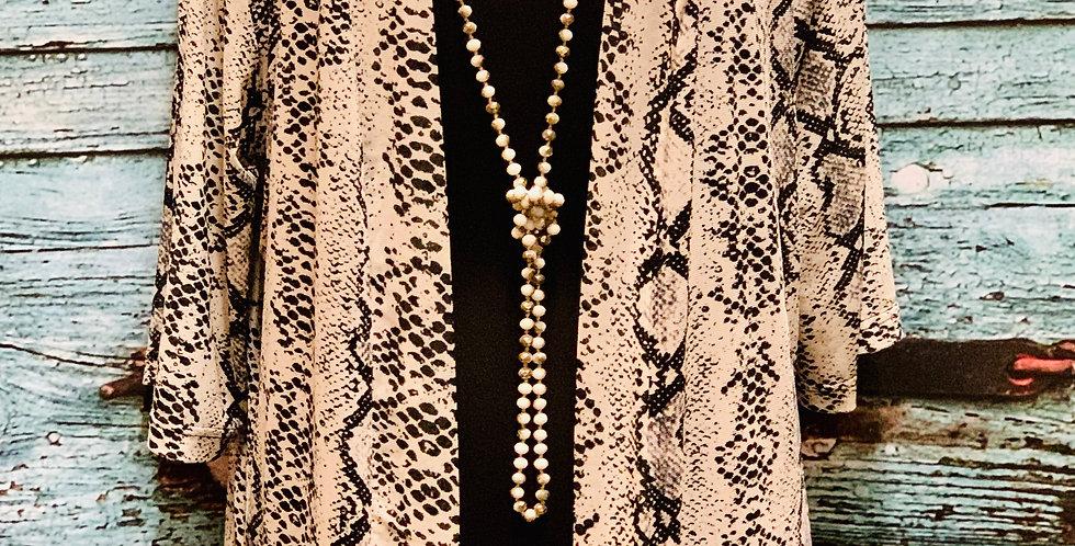 Snake Print Kimono