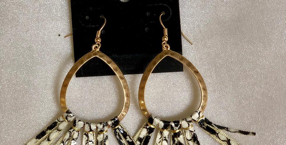 Snake Tassel Earrings
