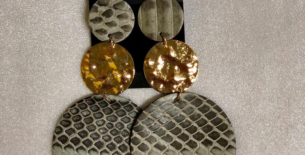 Snake Skin Dangle Earrings