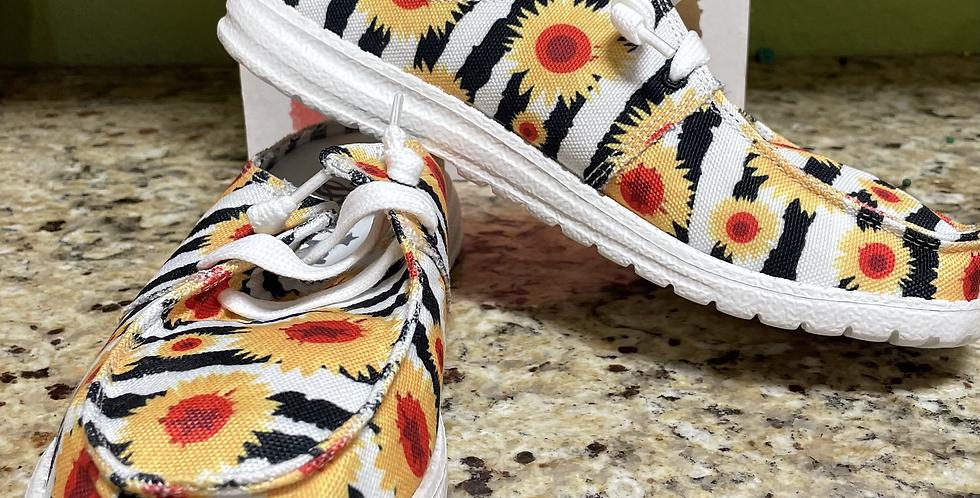 Gypsy Jazz Sunflower Shoe