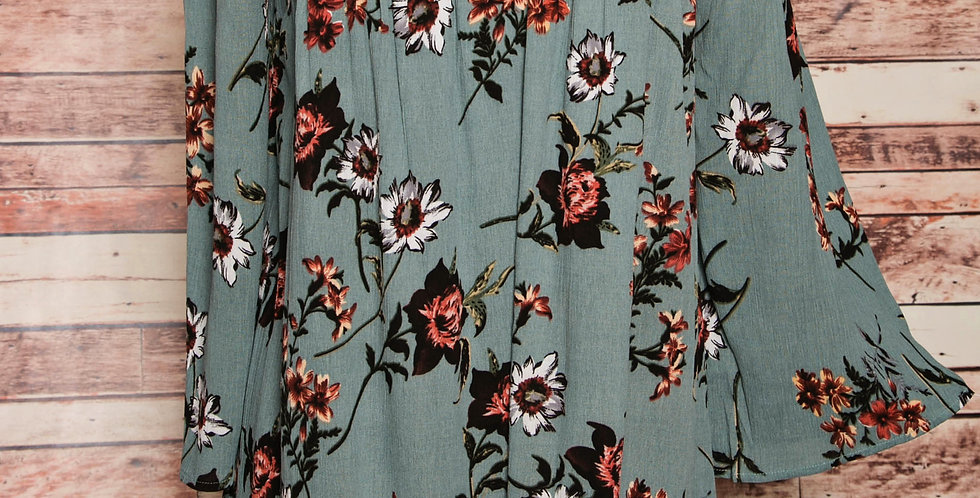 Off-shoulder Floral Tunic Top