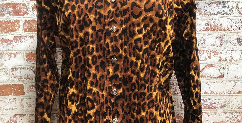 Leopard Button-up Top