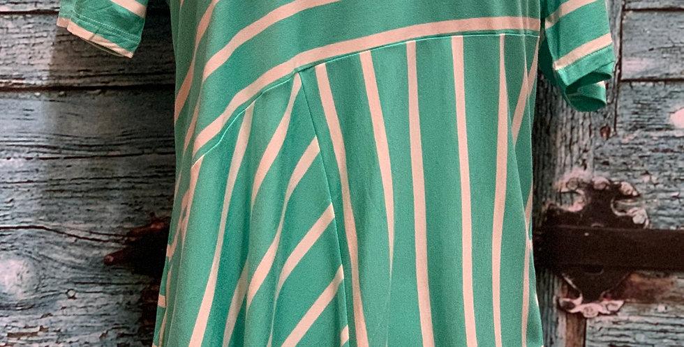 Turquoise Stripe Shirt