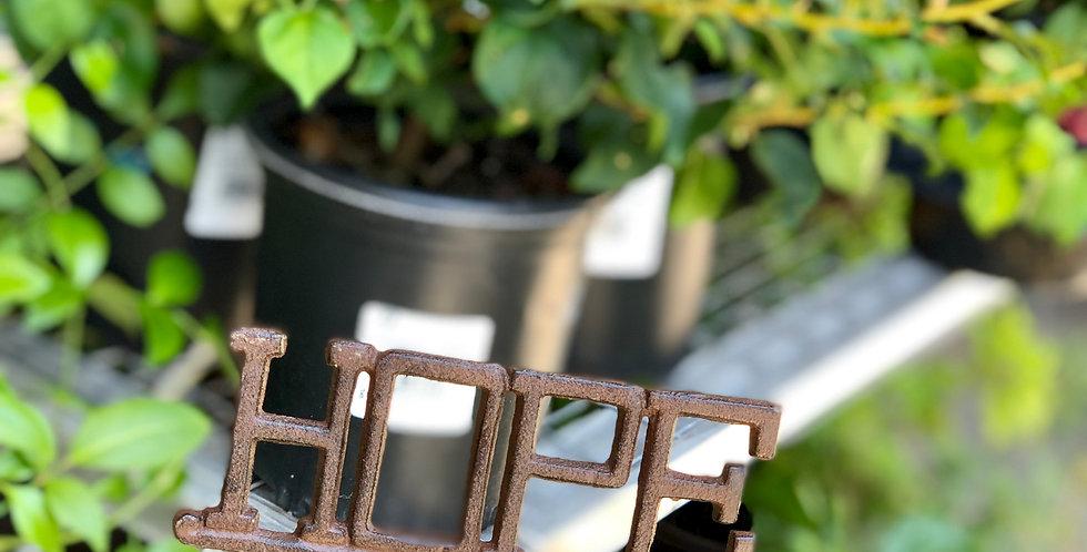 Hope Metal Garden Stake