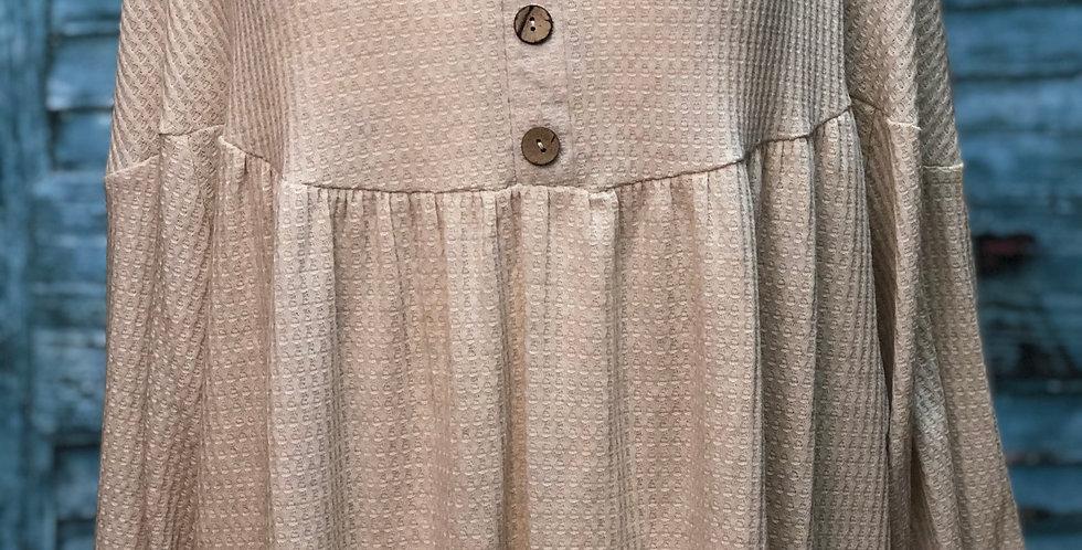 Light Brown Button Top