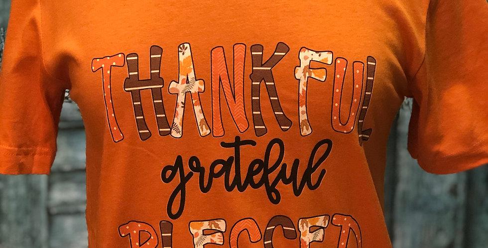 Thankful Grateful Blessed Tee