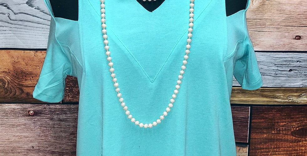 Turquoise Cut Out Tee