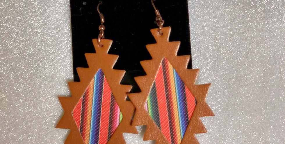 Serape Dangle Earrings