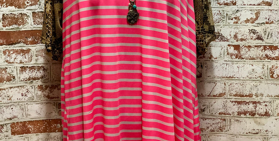 Pink Stripes with Snake Skin Sleeves