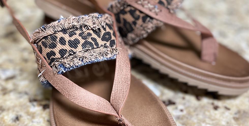 Axel Tan Leopard Sandal