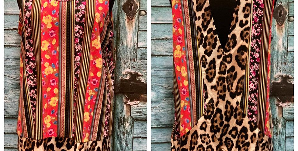 Floral/Leopard Top