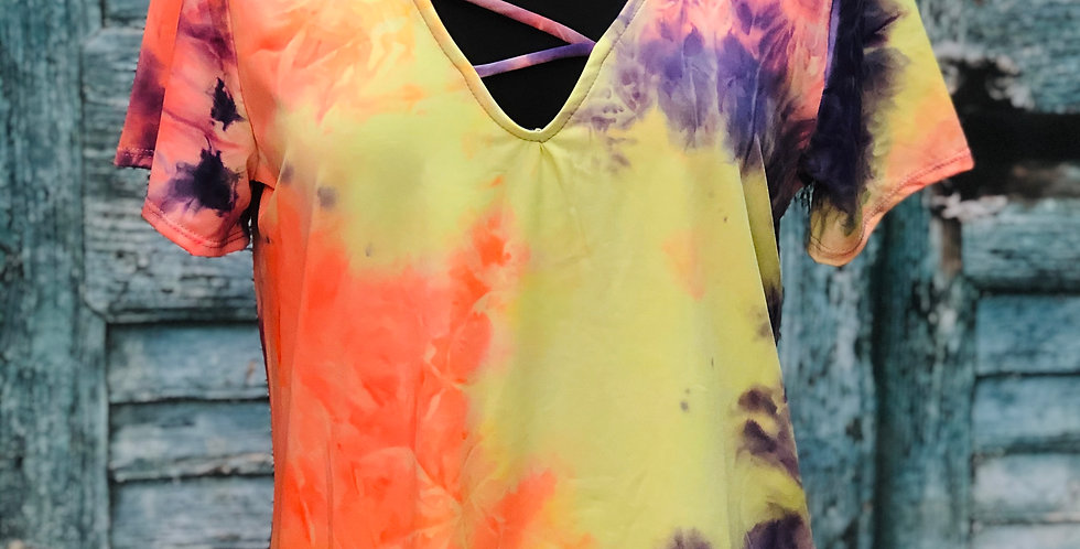 Tye-Dye V Cut Top
