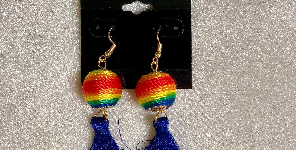 Colorful Fringe Earrings