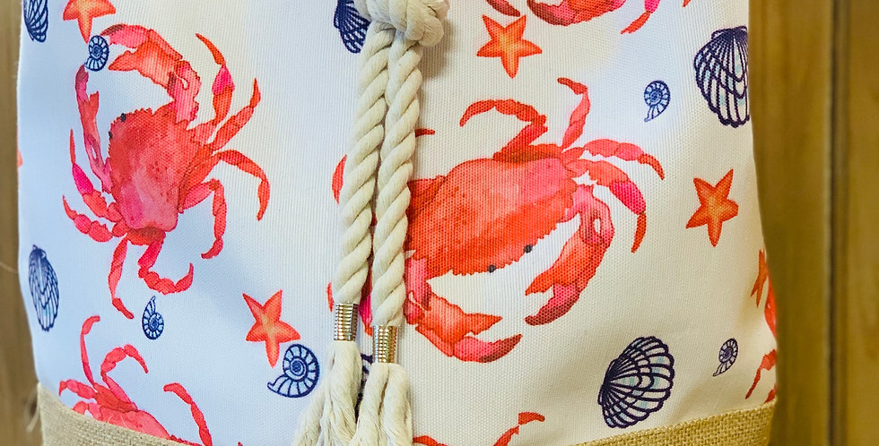 Crab Drawstring Bag