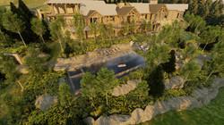 3D Aerial of Backyard
