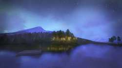 Pond Beach Fairytale Lighting