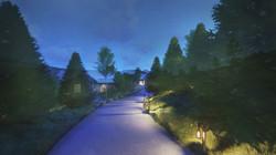 Private Driveway Bridge Entrance - Night