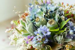 Bouquet de mariée blue