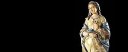 Virgem Maria - esperando o Menino Jesus.