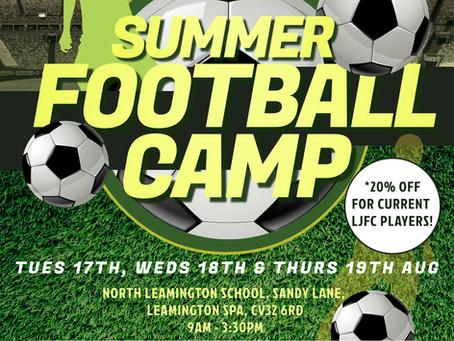 LJFC Summer Football Camp!