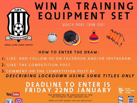Win A Set Of Training Equipment!