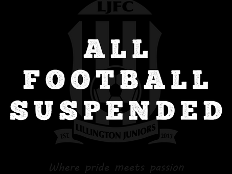 All Football Suspended!