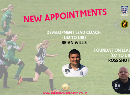 Lead Coach Appointments