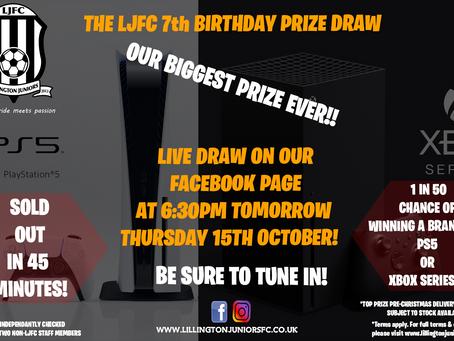Birthday Prize Draw Tomorrow!