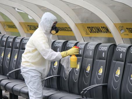 Isabi faz Sanitização no Estádio Heriberto Hülse