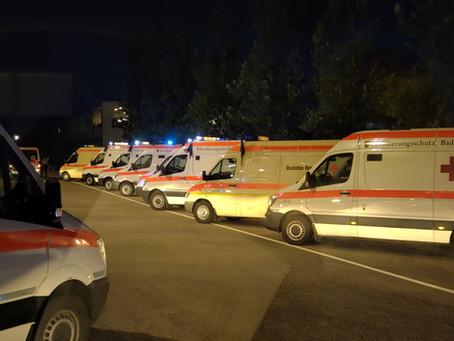 Einsatz B-KTW als 3. Kontigent - Evakuierung eines Krankenhauses in Ahrweiler