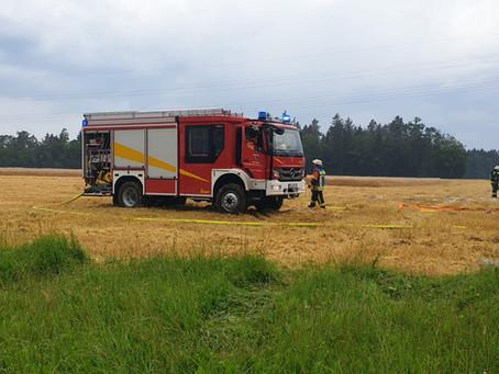 DRK-Bereitschaft beim Brandeinsatz in Langenhart