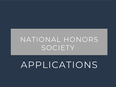 National Honors Society Applications