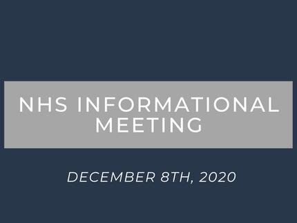 NHS Informational Meeting