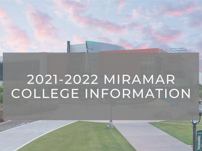 2021-2022 Miramar College Information