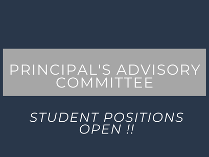 Principal's Advisory Committee Application
