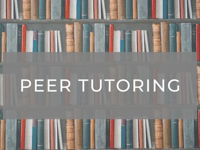 Peer Tutoring Updates