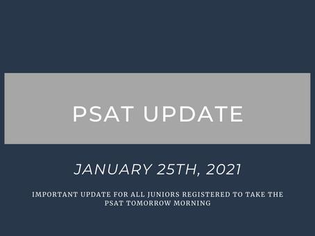 PSAT Update: 1/25/2021