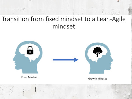 Transition from Fixed mindset to Lean-Agile mindset