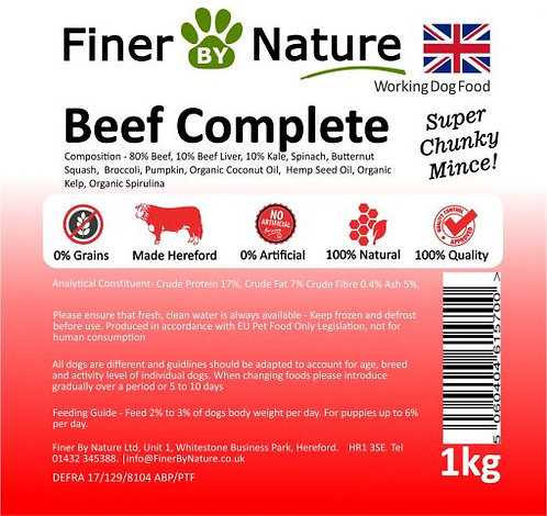 Finer By Nature - Beef Complete - 1KG