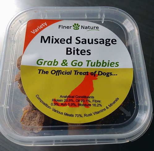 Mixed Sausage Bites - 125g Tub - Finer By Nature